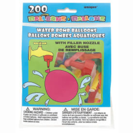***Water Bomb Balloons 200ct with nozzle