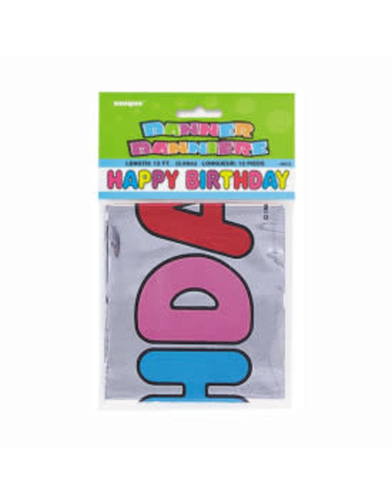 Large Foil Birthday Banner 12ft