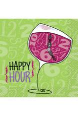 Wine Happy Hour Beverage Napkins 24ct
