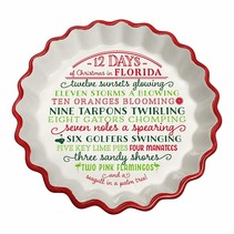 ***12 Days of Christmas in Florida Tart Plate