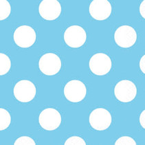 ***Baby Blue Polka Dot Beverage Napkins 16ct