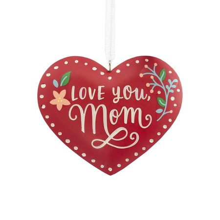 ***Love You, Mom Heart Hallmark Ornament