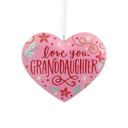 ***Love You, Granddaughter Heart Hallmark Ornament