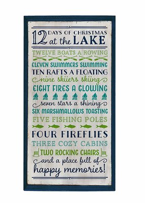 Occasionally Made ***12 Days of Christmas at the Lake Wood Wall Art