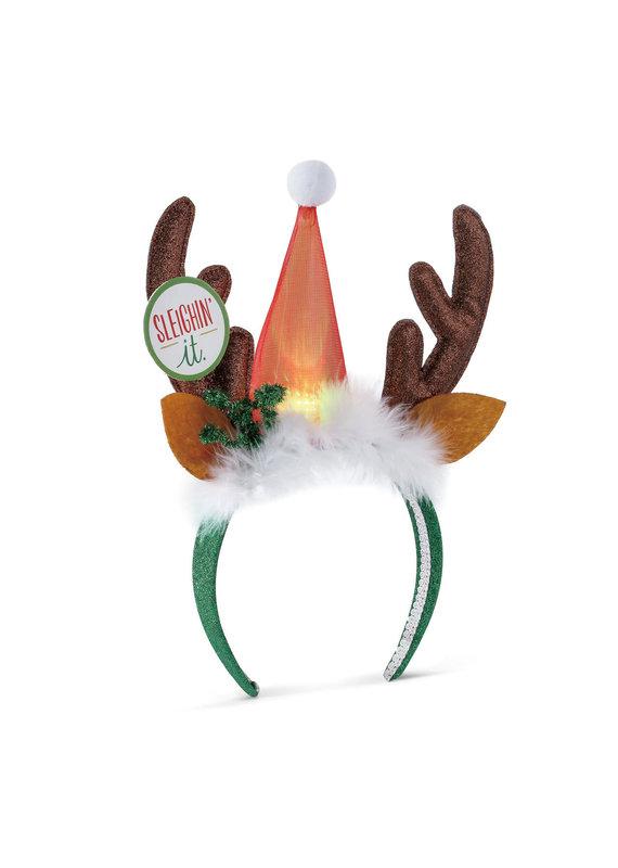 ***Lit Reindeer Headband