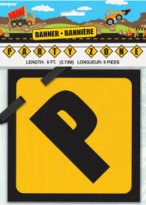 Construction Party Zone Banner
