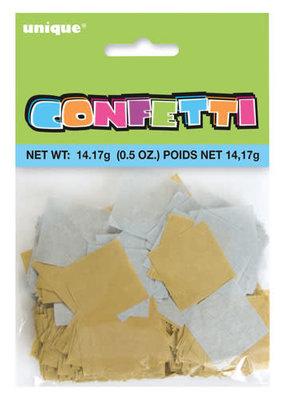 ***Silver and Gold Paper Confetti