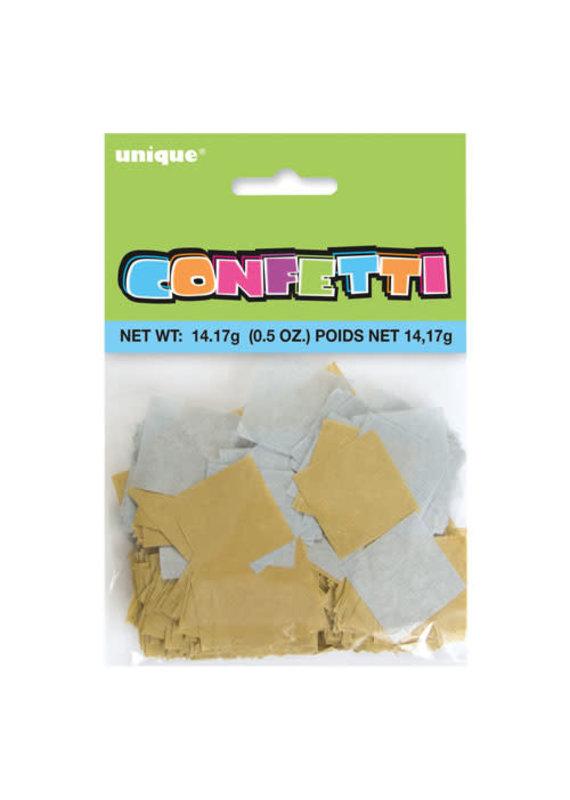 *****Silver and Gold Paper Confetti