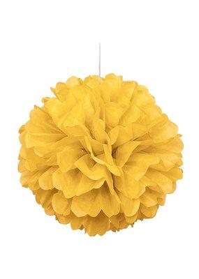 "***Yellow 16"" Puff Ball Tissue Decoration"