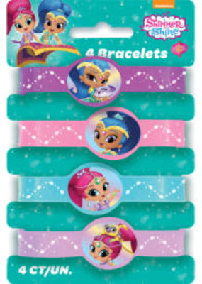 Shimmer and Shine Rubber Bracelets 4ct