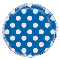 ***Royal Blue Polka Dot Mylar Balloon