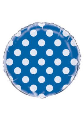 ***Royal Blue Polka Dot Mylar Balloon