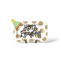 ***Happy Everything Rectangle Platter with Party Hat Mini Attachment