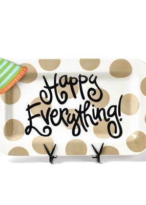 Cotton Colors ***Happy Everything Rectangle Platter with Party Hat Mini Attachment