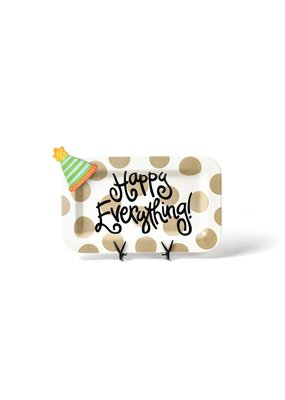 Cotton Colors ****Happy Everything Rectangle Platter with Party Hat Mini Attachment