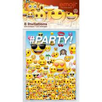 ***Emoji Party Invitations 8ct