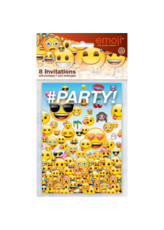 ****Emoji Party Invitations 8ct