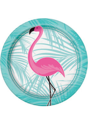 "Pink Flamingo 7""Dessert Plates 8ct"