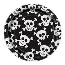 """***Skull and crossbones 7"""" Dessert plates"""