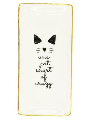 EverEllis ***One Cat Short of Crazy Jewelry Tray