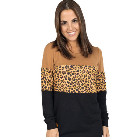 ***Simply Southern Leopard Stripe Top