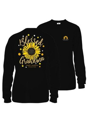 ***Long Sleeve Sunflower Grandma Black