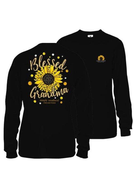 ***Long Sleeve Sunflower Grandma Black
