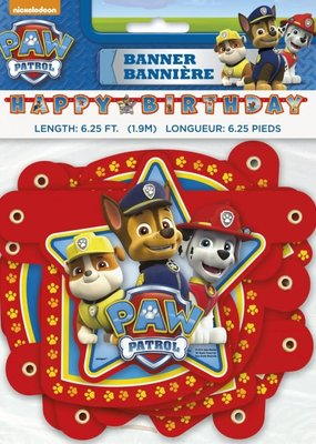 ***Paw Patrol Jointed Birthday Banner
