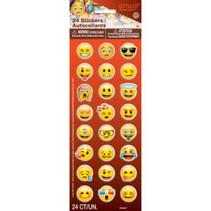 ***Emoji Puff Stickers 24ct