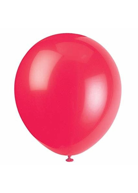 """****12"""" Latex Balloons, 10ct - Ruby Red"""