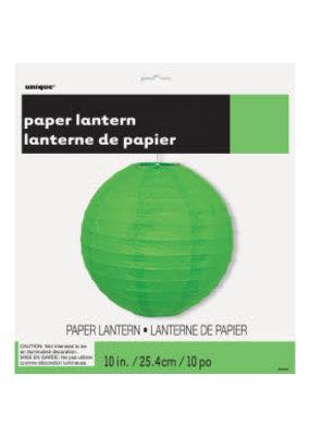 """***Lime Green 10"""" Paper Lantern"""