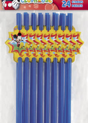 ***Mickey Mouse Straws 24ct