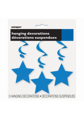 ***Blue Hanging Star Cutouts 3ct