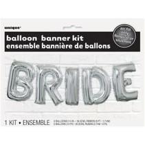 "Bride Balloon 14"" Banner Kit Silver"