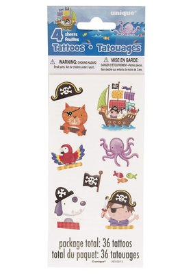 ***Pirate Tattoo Sheets 4ct