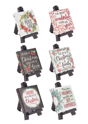 ***The Beauty of Christmas Plaques w/ Easels