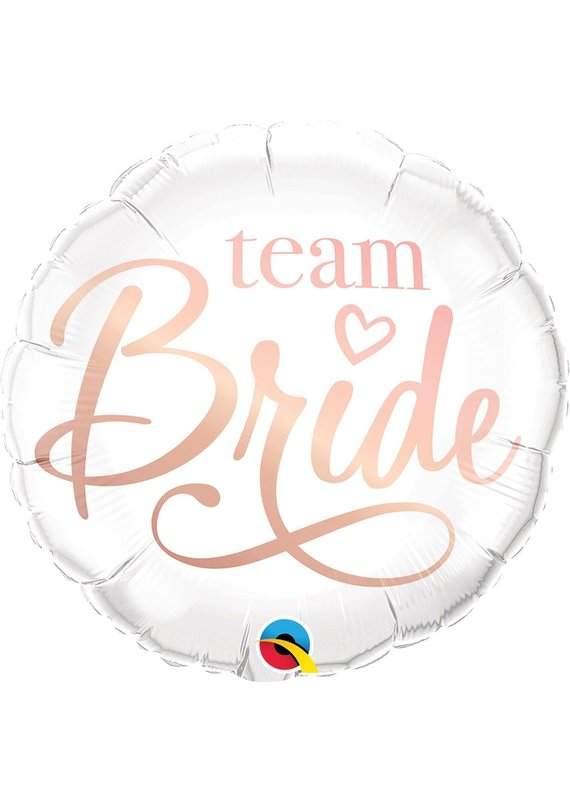 "****Team Bride 18"" Mylar Balloon"