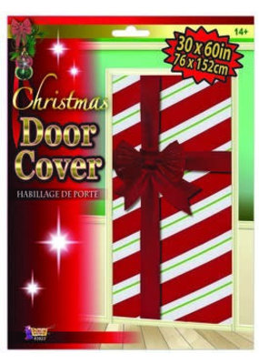 ***Christmas Door Cover with Bow