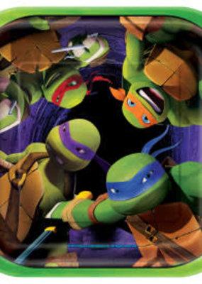 """***Ninja Turtle 7"""" Dessert Plates 8ct"""