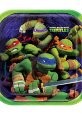 """***Ninja Turtle 9"""" Dinner Plates 8ct"""