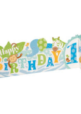 *Blue Safari 1st Birthday 3D Centerpiece