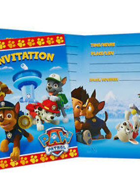 ***Paw Patrol Invitations 8ct