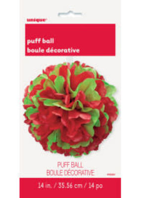 ***Puff ball (green & red)