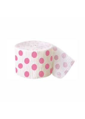 ***Pink Polka Dot Streamer 30ft