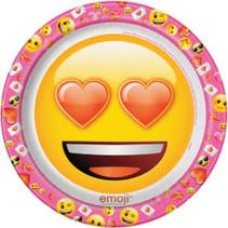 "**Valentine Emoji 9"" Dinner Plates 8ct"