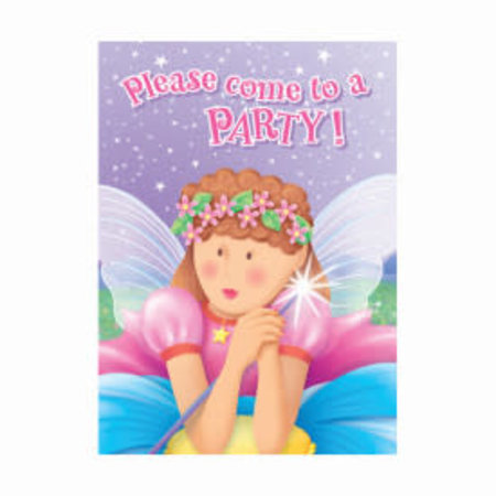 ***Fairy Princess Invitations 8ct