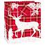 ***Plaid Deer Medium Gift Bag