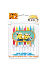 ****Despicable Me Cake Topper with Candles Minions
