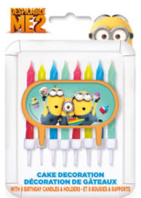 ***Despicable Me Cake Topper with Candles Minions