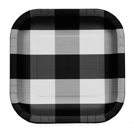 ***Black and White Classic 7in Square Plate